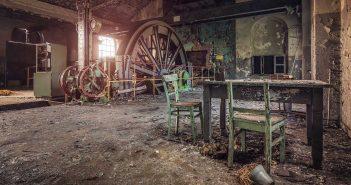 © Alek Sikora, Hoist machinery room in abandoned coal mine, Poland.