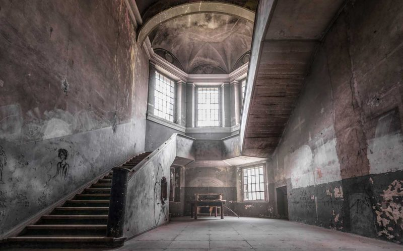 © Magda Stawowczyk, Abandoned palace, main staircase, Poland.