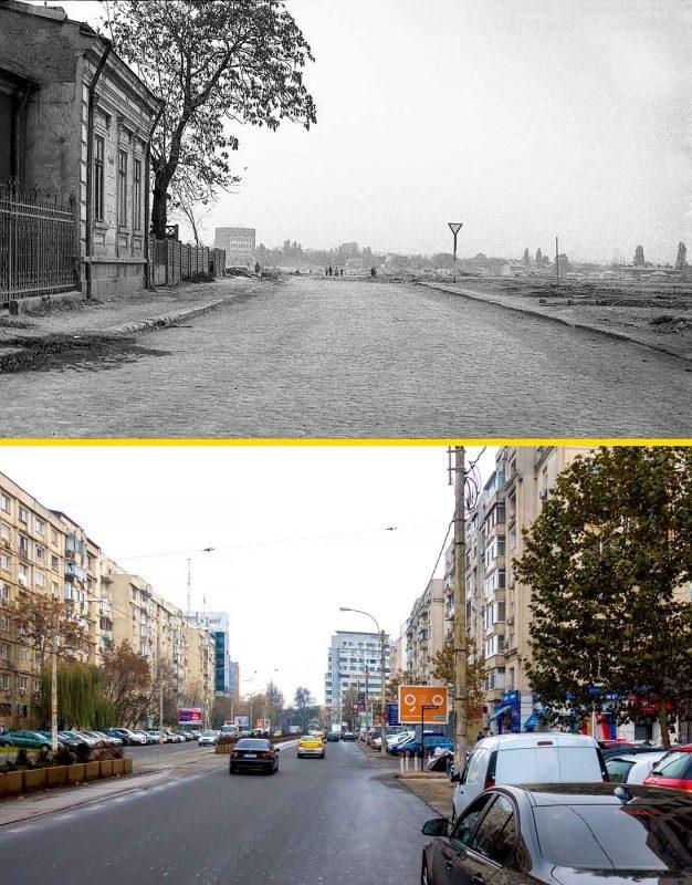© Andrei Bîrsan, Trecut-au anii, Poșta Vitan, 1987 (sus) / Bulevardul Unirii, 2018 (jos).