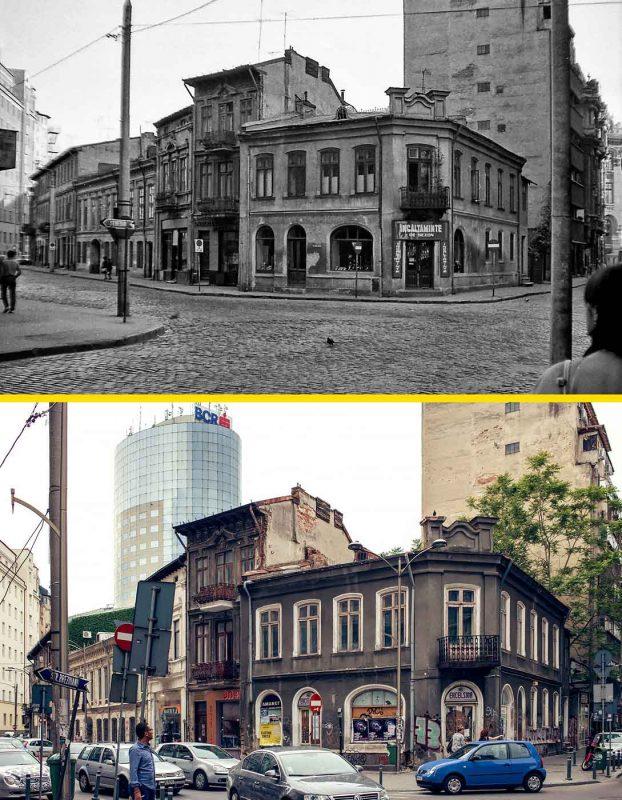 © Andrei Bîrsan, Trecut-au anii, Strada Domnița Anastasia, 1989 (sus) / 2018 (jos).