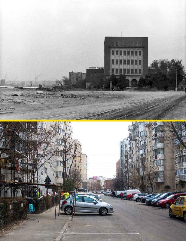 © Andrei Bîrsan, Trecut-au anii, Poșta Vitan, 1987 (sus) / 2020 (jos).