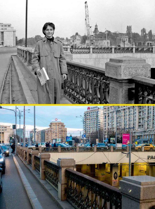 © Andrei Bîrsan, Trecut-au anii, Mihaela la Palatul Victoriei, 1988 (sus) / 2020 (jos).