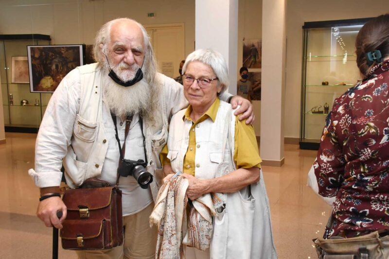 Dorel Găină, critic de artă, și Márta Jakobovits, artist plastic. © Alexandru Szabo